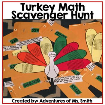 Are you looking for a way to keep your class engaged before Thanksgiving break? Use this around the school scavenger hunt to do just that! Students will solve math problem, find feathers (using riddles/clues), and put together the answer to a Thanksgiving joke.