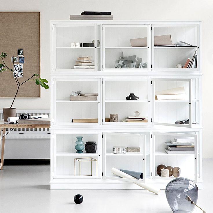 Glasvitrine von Oliver Furniture, Breite 187 cm, weiß, 2.819,00