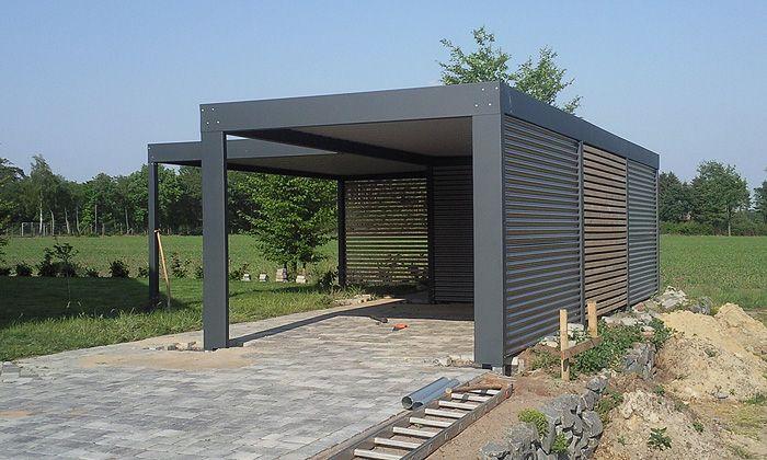 Die besten 25 carport aus holz ideen auf pinterest for Carport mit solardach