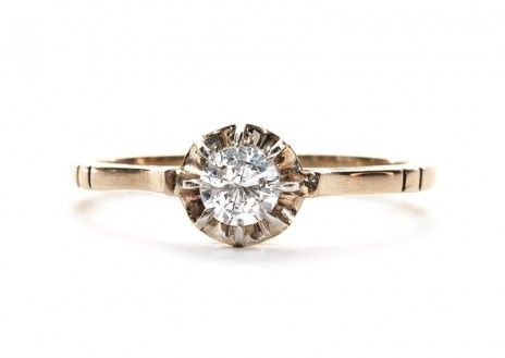a late 1800's Victorian solitaire engagement ring - and it's for sale at Trumpet & Horn!