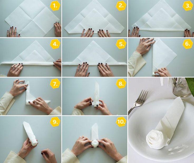 Die besten 17 ideen zu servietten falten rose auf for Servietten hochzeit falten