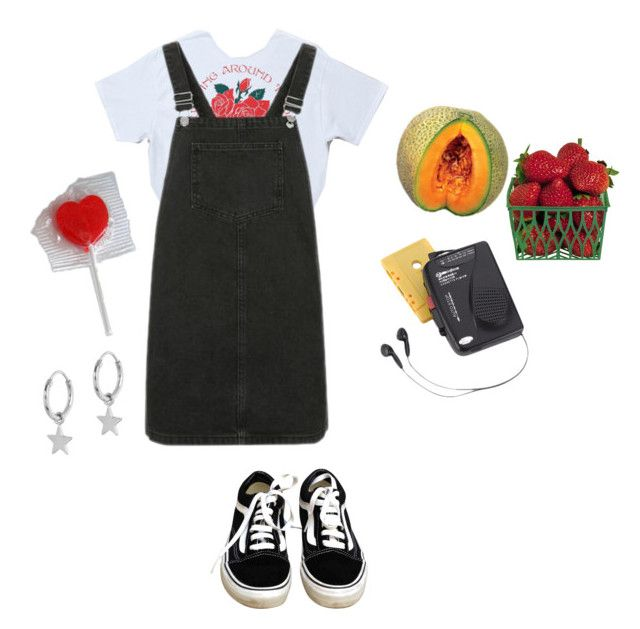 """""""i carried a cantaloupe"""" by glitterfreckles ❤ liked on Polyvore featuring AG Adriano Goldschmied, Westinghouse, Topshop and Vans"""