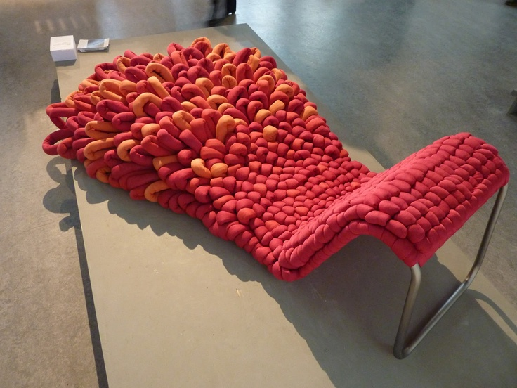 Loop Chair By Sophie De Vocht Is A Hybrid Rug/lounge Chair Made Of Of Yarn  Pulled Through A Tough Metal Mesh.   This Would Be Pretty Awesome To Tan In!
