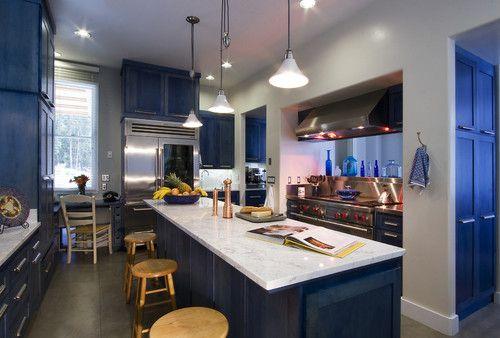 contemporary kitchen by Leonard Grant Architecture: Blue Cabinets, Kitchens Design, Design Trends, Contemporary Kitchens, Design Ideas, Interiors Design, Kitchens Ideas, Blue Kitchens, Modern Kitchens