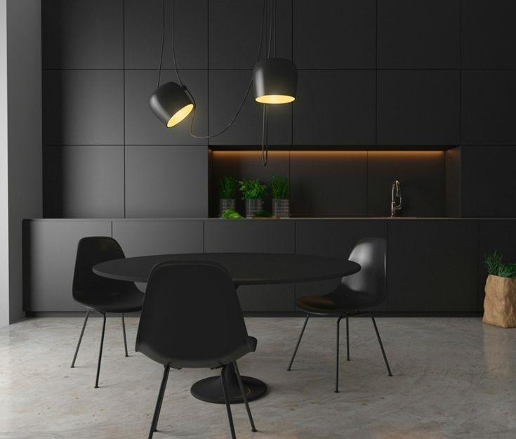 Modele De Cuisine Noire Espaces Design Magnifiques