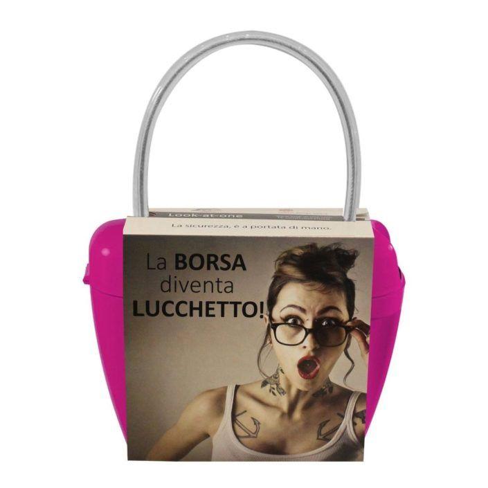 Look-At-One Borsa Lucchetto Fucsia
