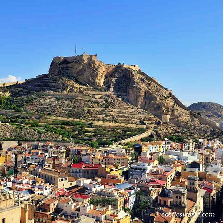 Santa Barbara Castle, Alicante, Spain Perched on top of Mount Benacantil, at a height of 166 meters, stands one of Spain's largest medieval fortresses, providing great views of Alicante's perfect bay. Its origins date back to the 9th century at the time of Muslim control of the Iberian Peninsula