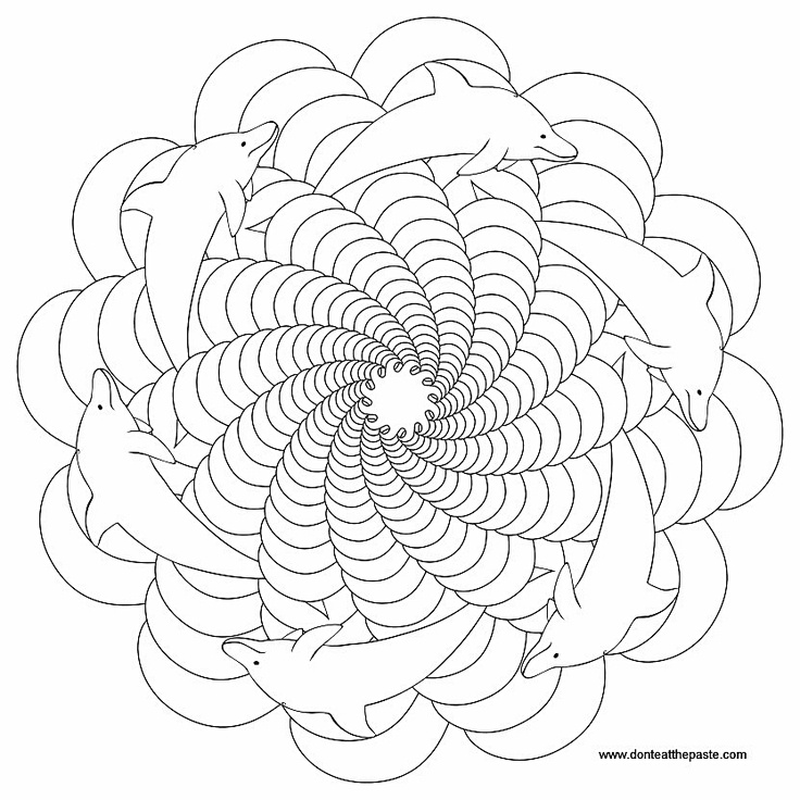 kaleidoscope coloring pages to print free - photo #13