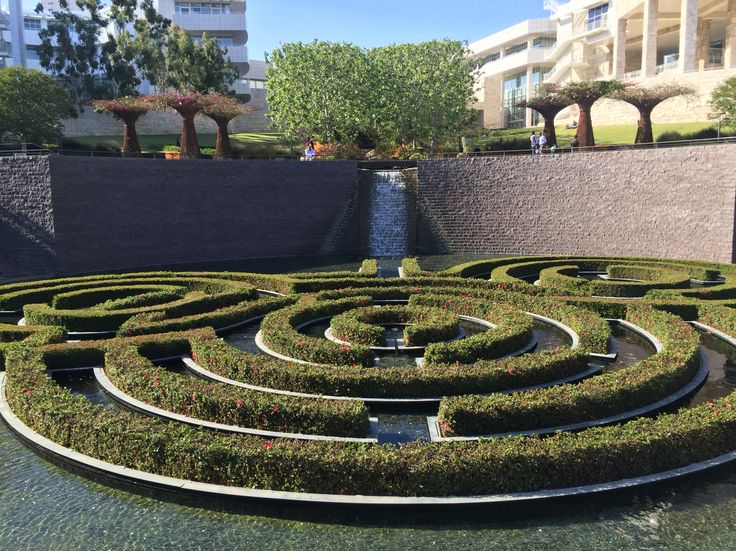 The garden in Getty Center