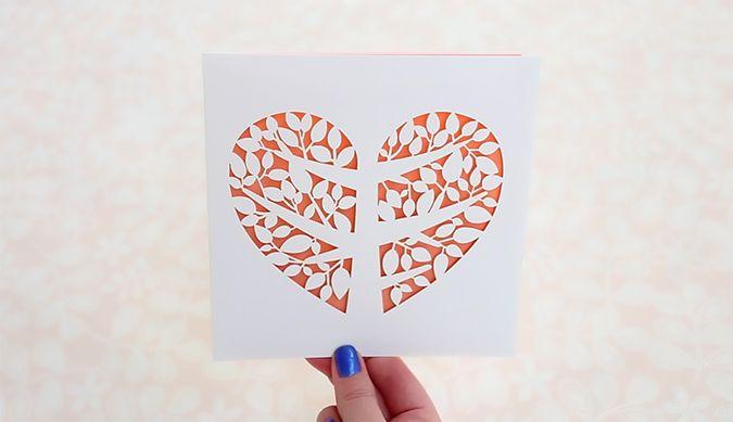 DIY laser-cut wedding invitations, Tree of Love + Melon
