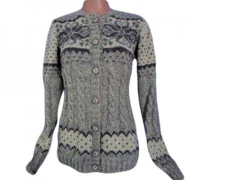 DÁMSKÝ PROPÍNACÍ SVETR-OVČÍ VLNA svetr vesta pulovr