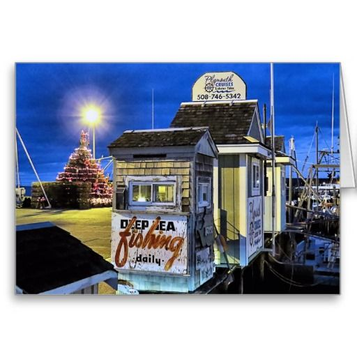 Town Wharf Plymouth MA Holiday Card | Zazzle.com | Holiday ...