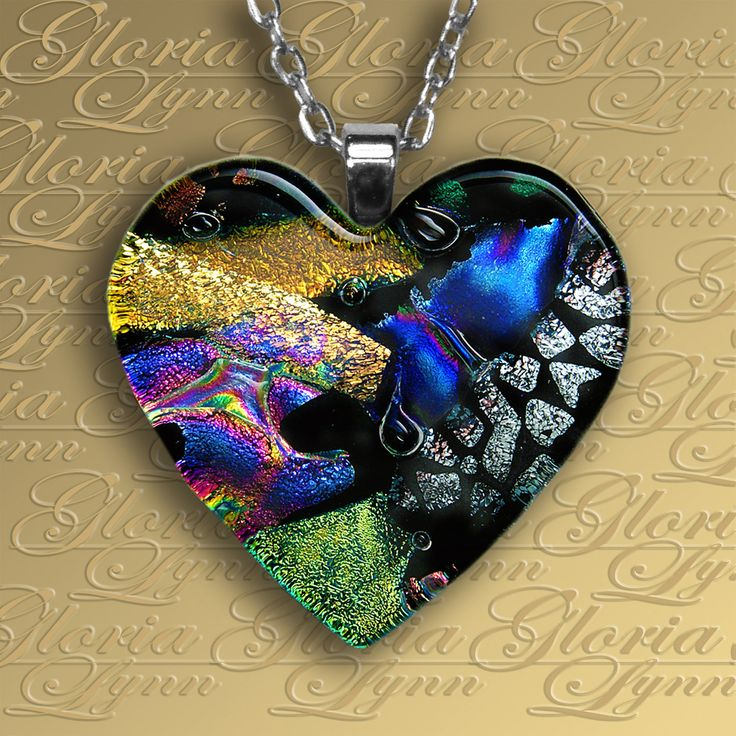 43 best beautiful dichroic fused glass images on pinterest fused dichroic glass pendant jewelry loving by glorialynnglass mozeypictures Choice Image