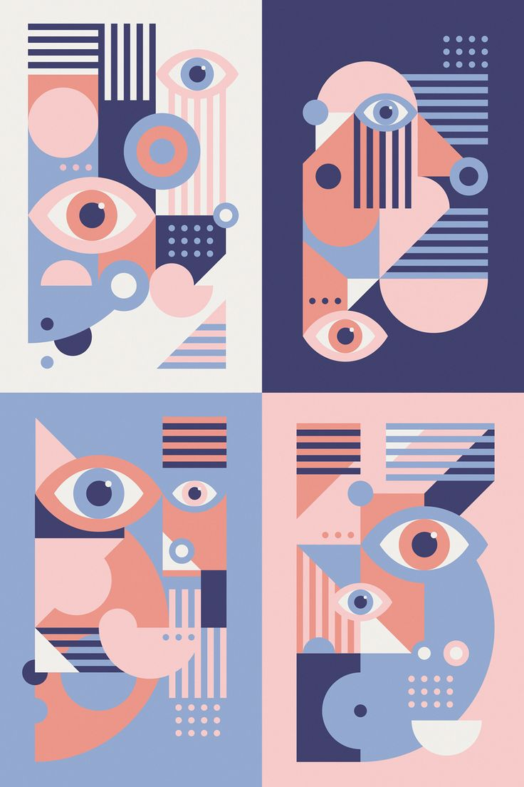 """Play With Your Egos"" — pattern illustration (backside design) for the special edition of Playing Arts. Additional graphic posters, letter design and color variations."