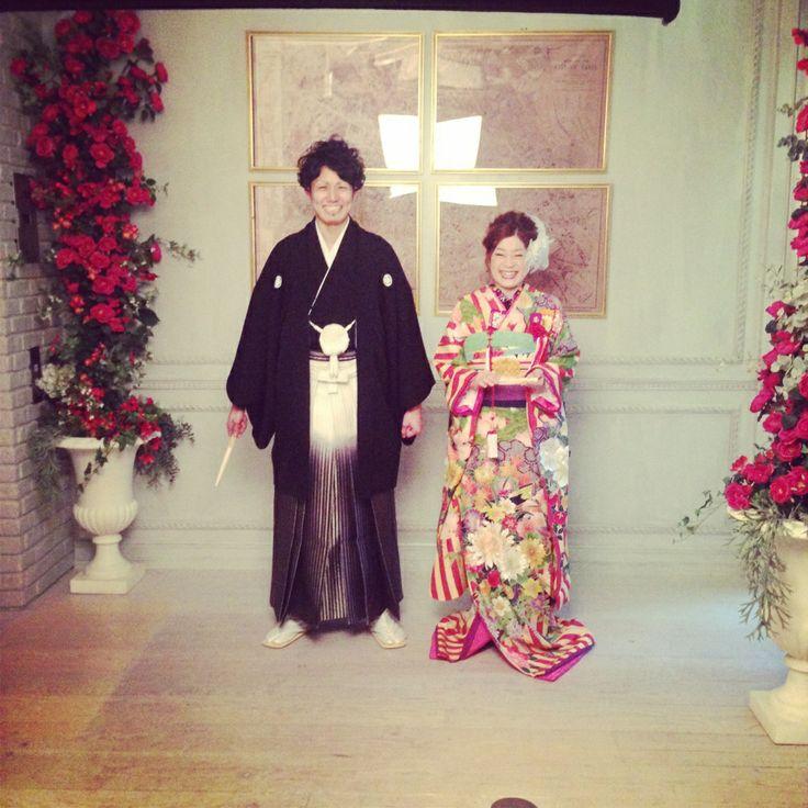 オーダーメイドフォトウエディング(Photo Wedding)引き振袖(Kimono):02-4023 / 紋付(Kimono):10-3079