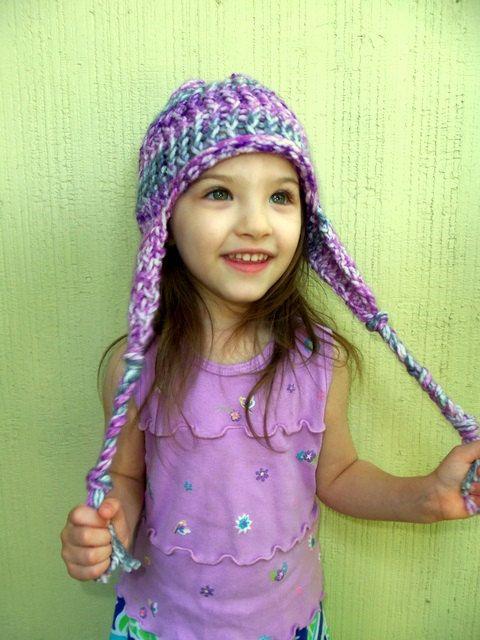 Cute! Loom Knit Earflap Hat Pattern by Erin Lowmaster on Etsy, $5.00