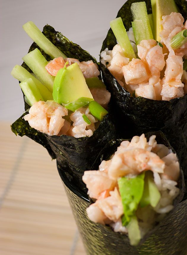 Spicy Shrimp Hand Roll Sushi Filling ... easy and good