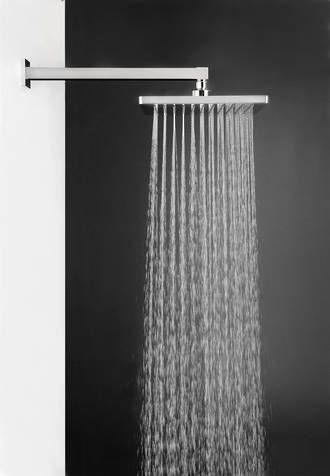 Aquatica Oblio Wall AND CEILING Mounted Bathroom Rain Shower Head Chrome $319.99