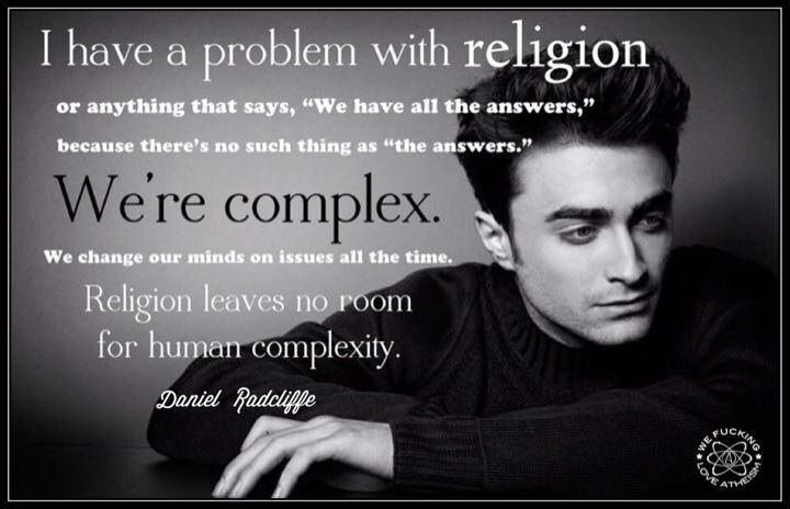 Daniel Radcliffe's problem with religion. I love this ...