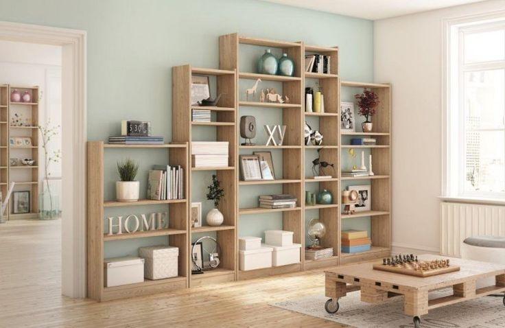 Las estanterías de madera son un complemento perfecto para #decorar y #organizar tu #hogar.