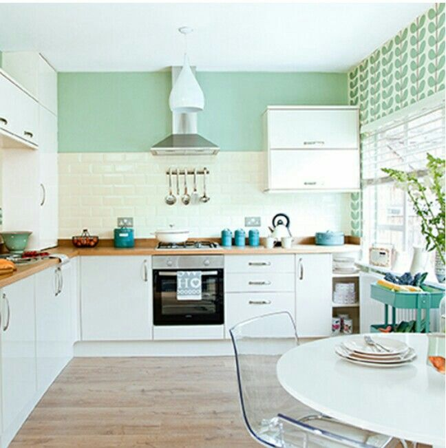 Mint Green Kitchen: Would Love The Mint Green In My Craft Room Or Kitchen