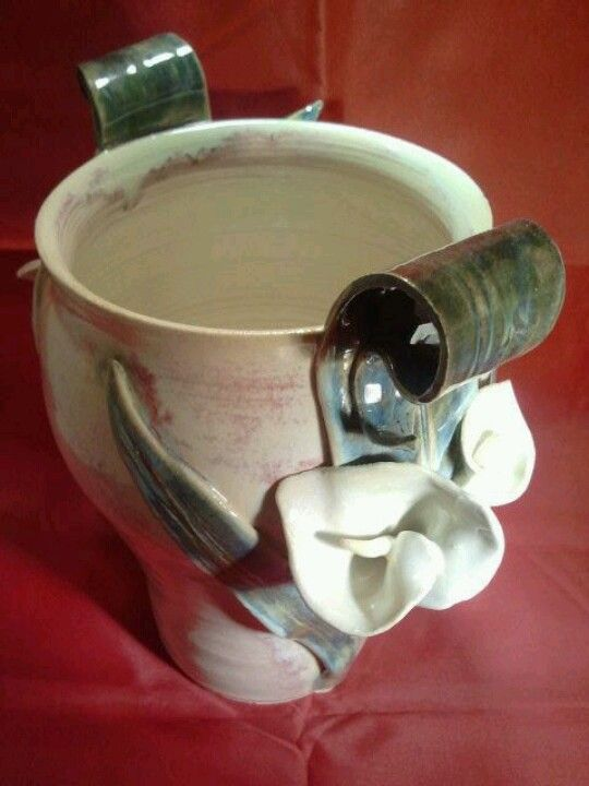 Wheel Thrown And Hand Built Calia Lilly Vase By Vintage Garden,Pottery
