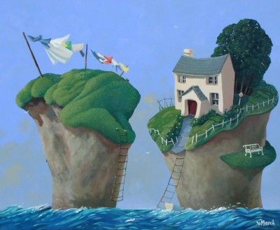 Fair Winds Cottage by British Contemporary Artist Jo MARCH