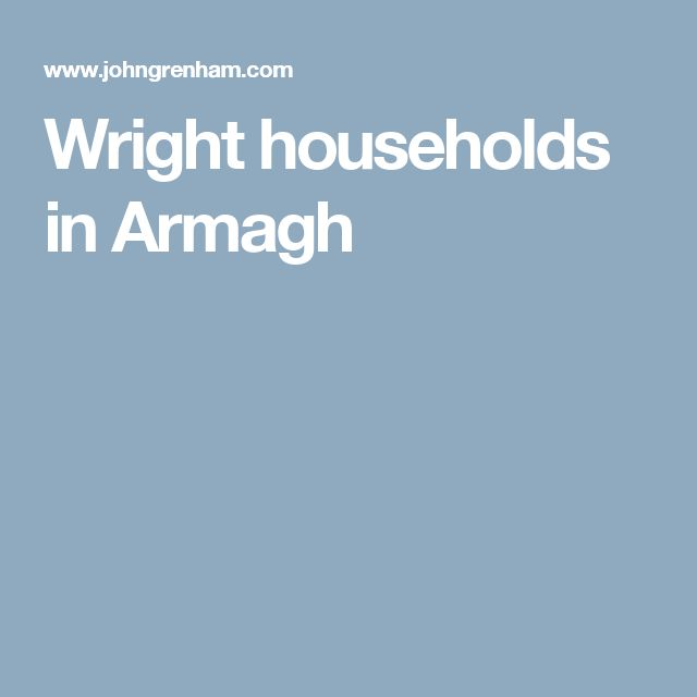 Wright households in Armagh
