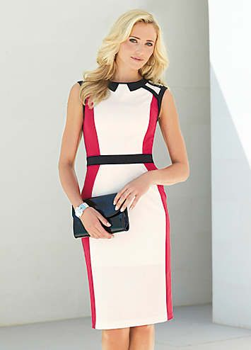 Colour Block Control Dress