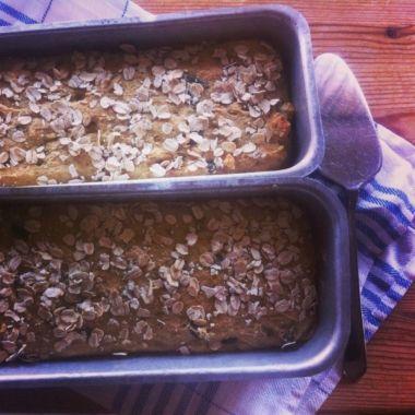 Pumpafröbröd med bovete- majs och havremjöl.
