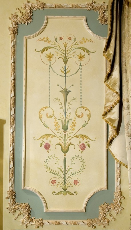 Wall stencil Marie Antoinette Side Panel LG - Detailed French decor