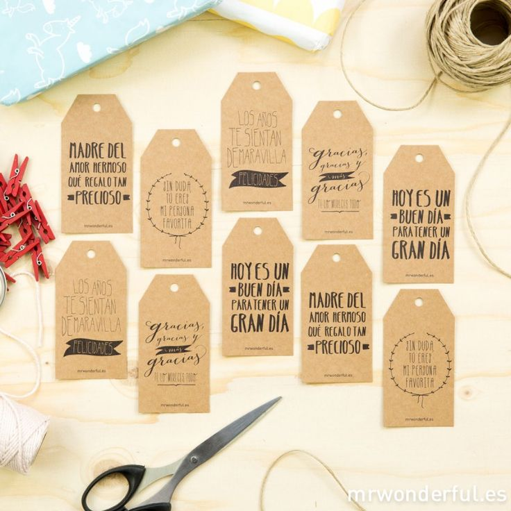 Etiquetas para regalos molones kraft - Etiquetas 7€ | Mr Wonderful