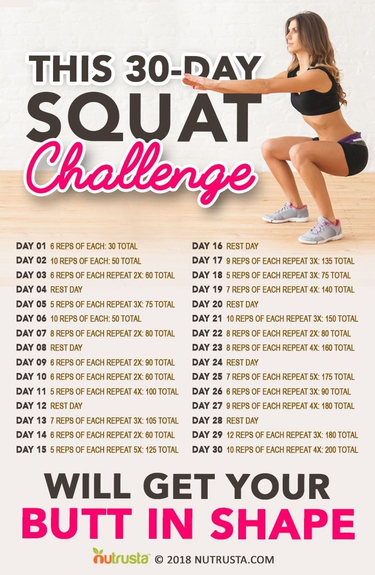 Try if this 30-Day Squat Challenge really put that behind in a good shape.