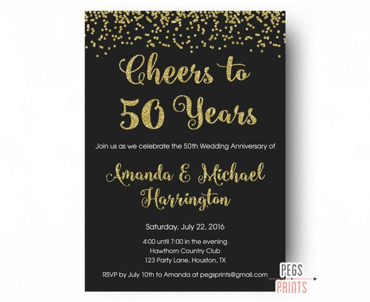 7 best 55th wedding anniversary images on pinterest anniversary image result for 50th wedding anniversary invitations stopboris Images