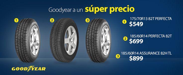 ¿Buscas llantas para tu carro? ¡Aquí tenemos! Checa la variedad de llantas Goodyear que tenemos a súper precios. Walmart.com.mx, Hacemos Clic!