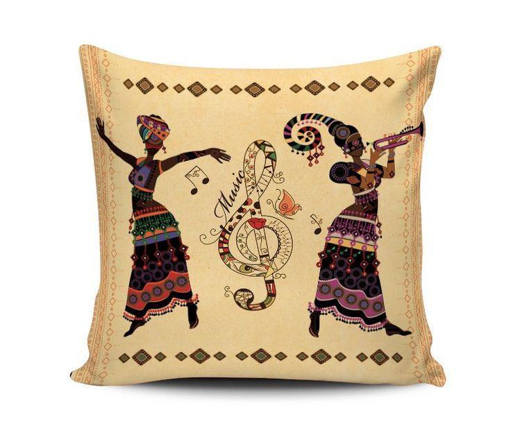 Afrika Müzik Yastık Kırlent Ölçü: 40x40 cmKumaş : %100 Polyester ve Baskılı olup yumuşak dokuya.... 244409