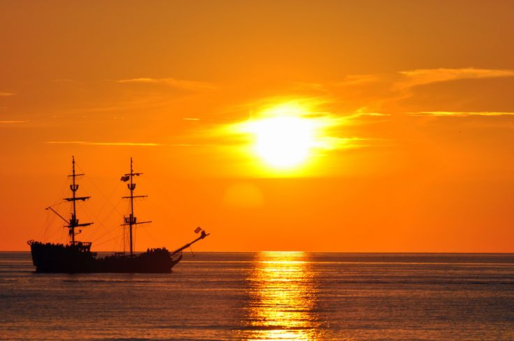 when sun goes down.... Wonderful sunset and Denega ship.