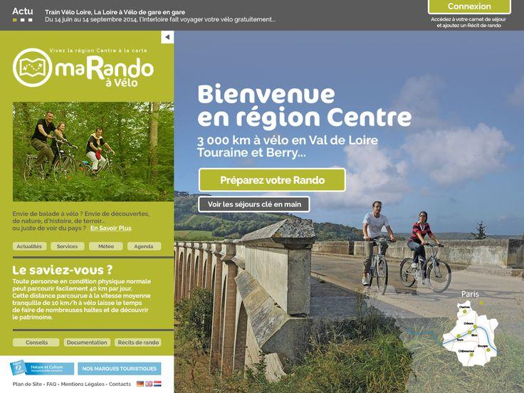 Site Web MaRandoAVelo #tourisme #regionCentre #velo #France