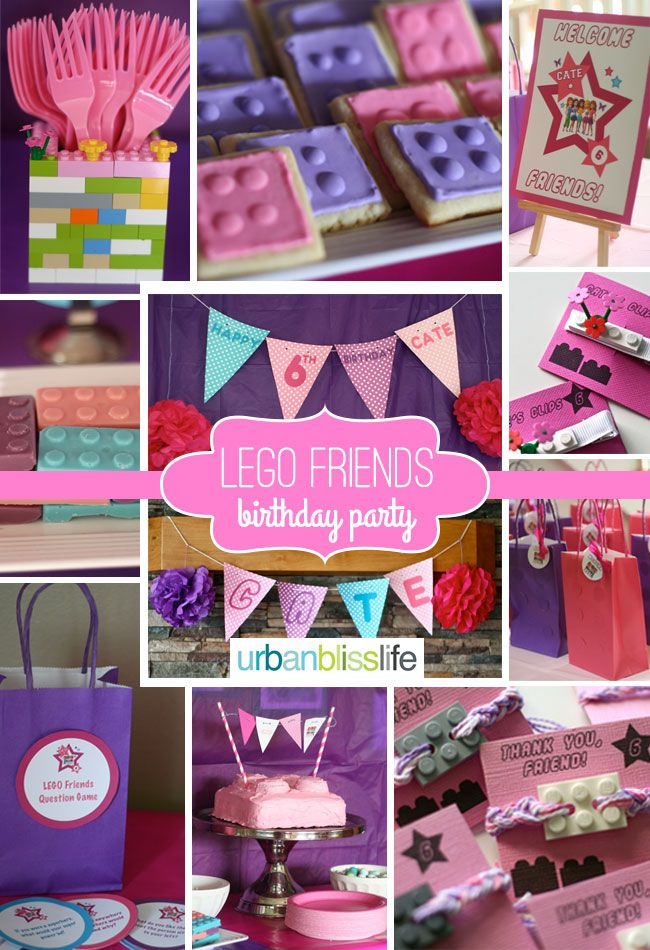 Lego Friends Birthday Party Planning Tips and Party Ideas | UrbanBlissLife.com #Birthday #Party #LegoFriends