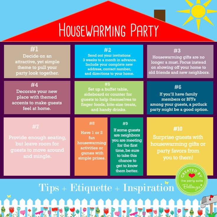 Infographic housewarming party by Bellenza.