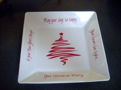 christmas vinyl or sharpie and bake in the oven