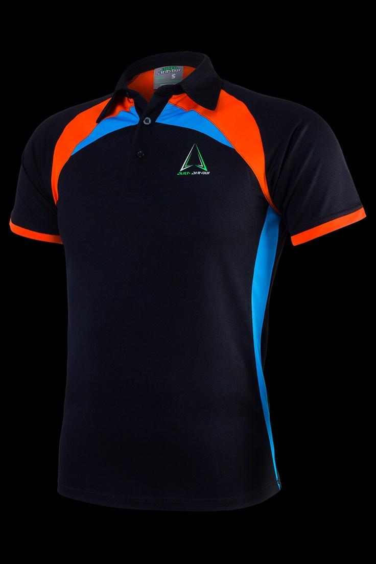 Áo thể thao Alien Armour Men's Irona II Polo T-shirt P001 - Black
