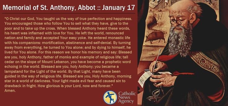Prayer For St Anthony Of Egypt Saints Pinterest