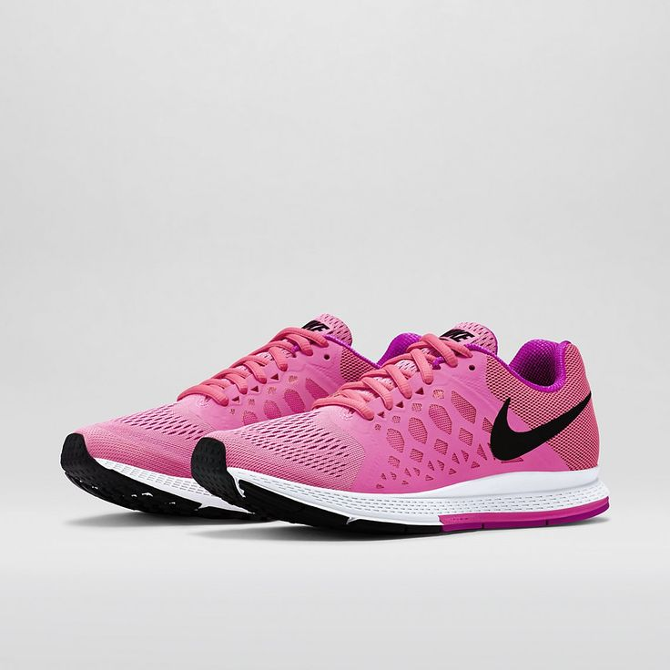Pink Nike Air Zoom Pegasus 31 Women's Running Shoe. Gym workout fashion