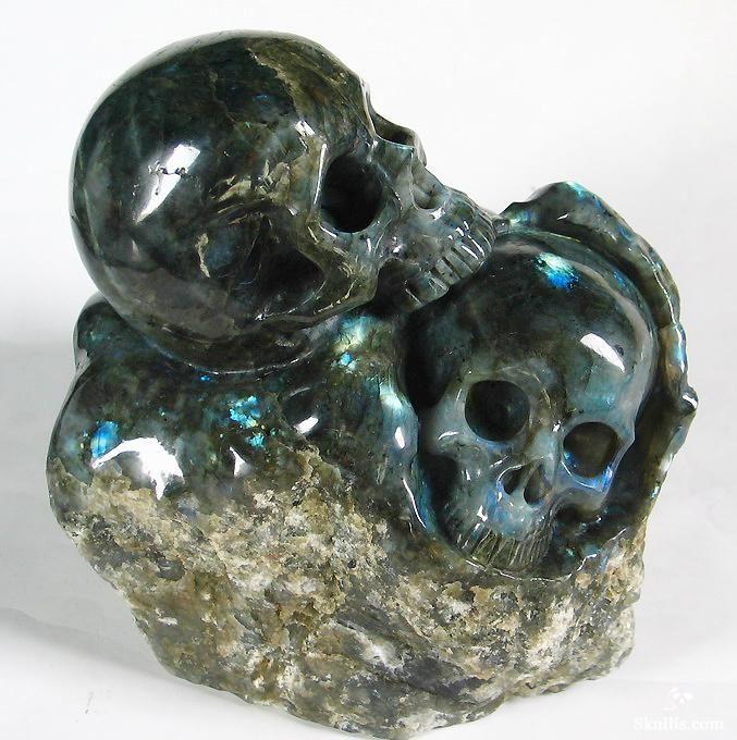 Labradorite Crystal Skulls