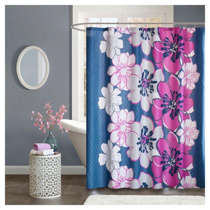 Floral Shower Curtain Flashbulb Fuchsia, Flashbulb Fuschia