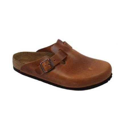 Birkenstock – Boston Antique Brown Leather Clogs