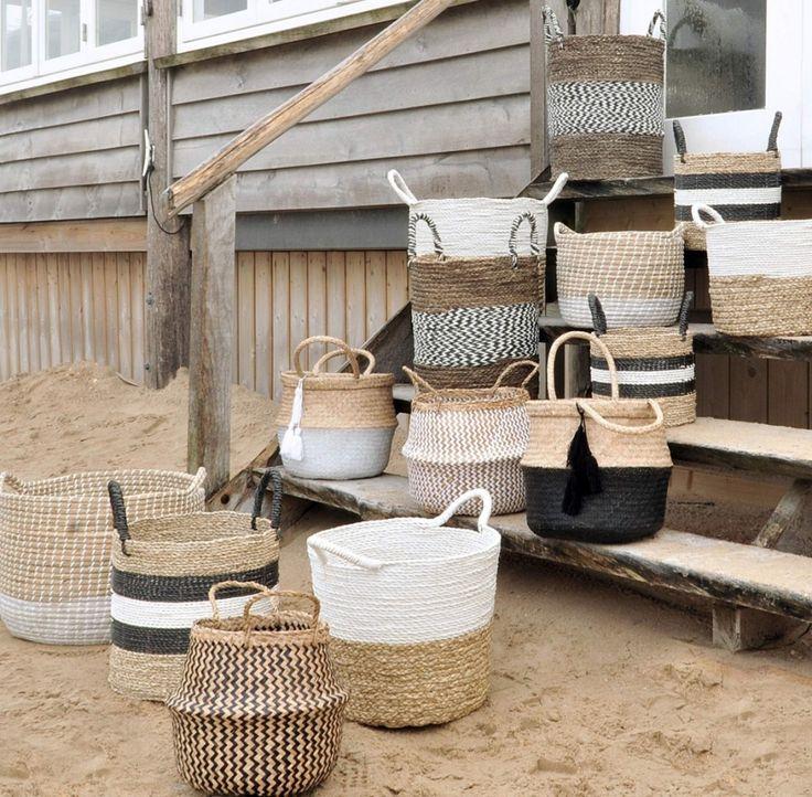 Handig en super leuk deze manden voor een dagje naar het strand! #natural #mand #strand