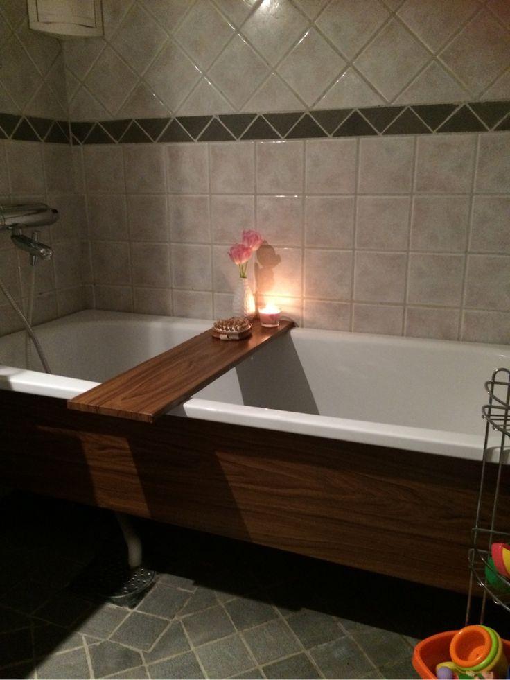 Dekorplastklätt badkar och badkarsbord