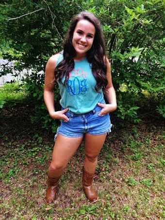 Monogram Bow Tank by TheSouthernGoldCo on Etsy, $35.99